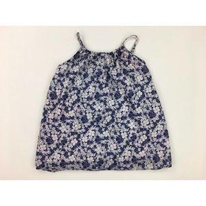 Polo Ralph Lauren Girls 10 Blue White Floral Top